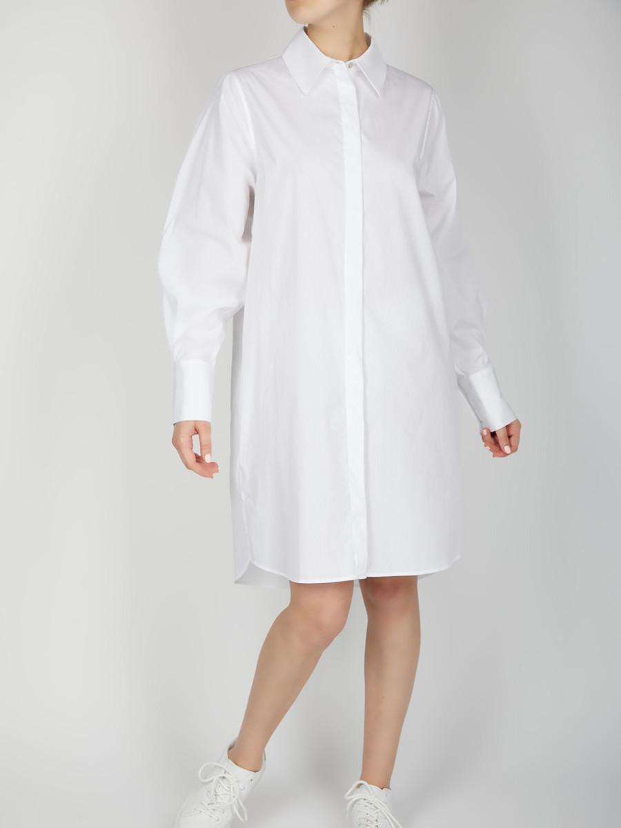 LORA DRESS - Oversize Hemdblusenkleid - Farbe: White